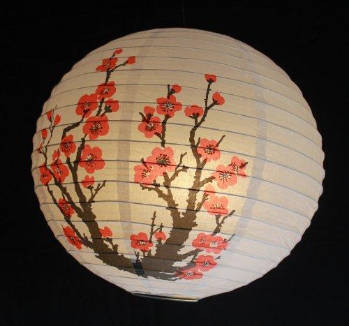 270, Lampion 1 Stk. Papier weiss japanisch rund Durchmesser 40 cm