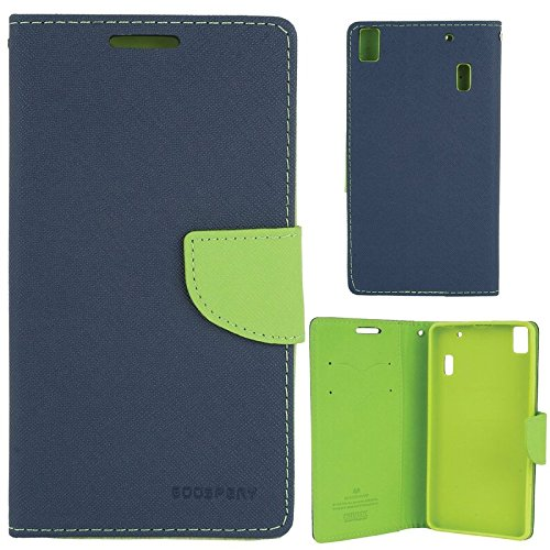 Pudini Flip Cover For enovo A 7000 Blue  available at amazon for Rs.249