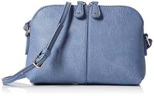 Dorothy Perkins Damen Denim Pouch Umhängetasche, Blau (Blue), 21x15x6 centimeters