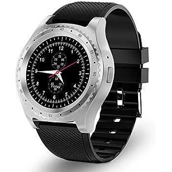 Reloj Inteligente Bluetooth Smartwatch con Tarjeta SIM y Ranura para Tarjeta TF Supervisión del sueño Podómetro Calorías Reloj Deportivo Impermeable ...