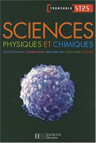 Sciences physiques et chimiques Tle ST2S