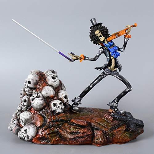 DYHOZZ Ein Stück Anime Statue Brooke Harz Anime Modell, Home Office Dekorative Spielzeug-23 cm Spielzeugstatue