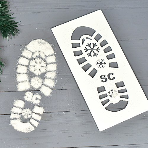 Original Singe Santa Empreinte Pochoir Décor, Empreinte de Père Noël Pochoir Comprend Snow,...