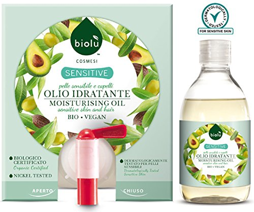 biolù Sensitive Huile Hydratant 300 ml avec flacon peau sensible et cheveux