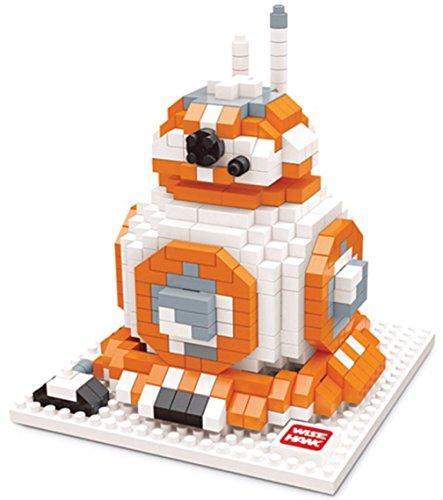 Figure of BB-8 of Star Wars to arm with miniblocks. 592 blocks in miniature.