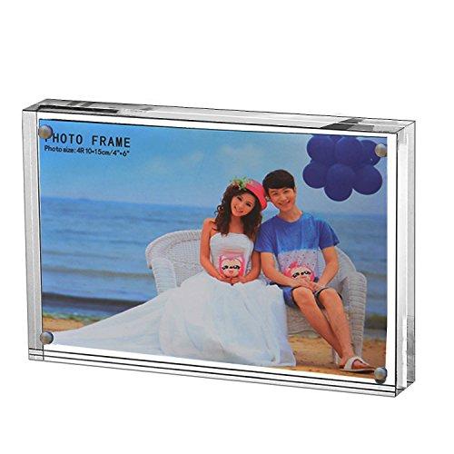 """5x7""""Tableau Cadre Plexiglass Magnetique,Acrylique Cadre Photo avec Fermeture Magnetique, Transparent"""