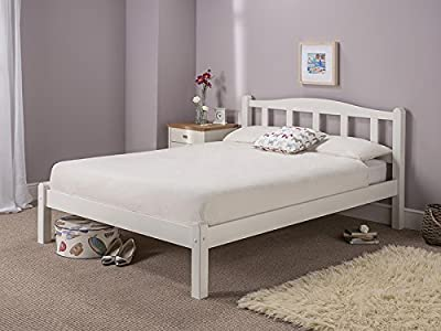 Snuggle Beds Amberley White Wooden Solid Slatted Pine Bed Frame 3FT 4FT6 5FT - low-cost UK light store.