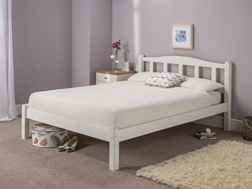 Snuggle Beds Amberley White 2FT6 Small Single Bed Frame
