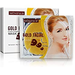 MOND'SUB Gold Brightening, Moisturizing & Antiwrinkle Facial Mask (Pack of 2 x 60g)