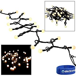 Adastra Bright Static Off White Outdoor Bauble Globe Fairy Lights LED Disco DJ Lighting