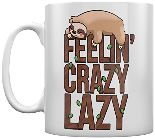 Grindstore Tasse Feelin' Crazy Lazy Sloth blanc