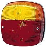 HELLA 9EL 146 491-001 Lichtscheibe Heckleuchte, für Schluss-Brems-Blink-Nebelschluss-Kennzeichenlicht, Anbau links/rechts