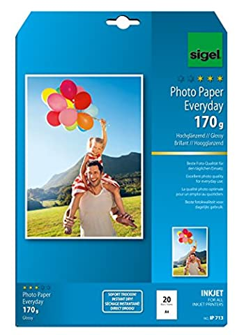 Sigel IP713 InkJet Everyday plus Photo Paper, glossy, 170 gsm, A4, 20 sheets
