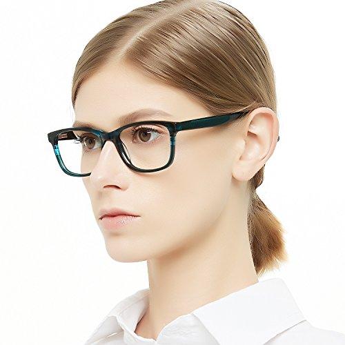 OCCI CHIARI Optische Brillen Rahmen Green Brille Optische Gläser Vintage Metall Oval Brille Leichte Brillen Full Damen...