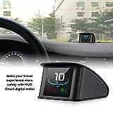 iKiKin Auto Head Up Display OBD2 HUD mit TFT LCD-Display zeigt Geschwindigkeit Drehzahl Spannung Erkennung für Fehlercode Muti-Funktion Auto HUD mit EUOBD OBD 2 Schnittstelle P10