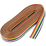 KTC CONS Labs 10 Meter 10 Core Rainbow Color Flat Ribbon Wire Cable (10 Meters)