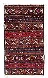 Nain Trading Azarbaijan 310x170 Orientteppich Teppich Läufer Dunkelgrau/Dunkelblau Handgeknüpft Russland