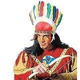 Indianer Kopfschmuck mit Federn als Kostüm Zubehör Indianerschmuck Federschmuck Häuptling Sitting Bull Feder Schmuck