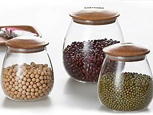 Glass Jar- Set of 3