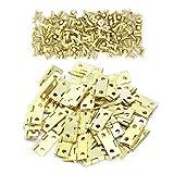 QQDEAL Mini-Scharniere für Puppenhaus, Miniatur, Schrank, Schublade, Box, 100 Stück