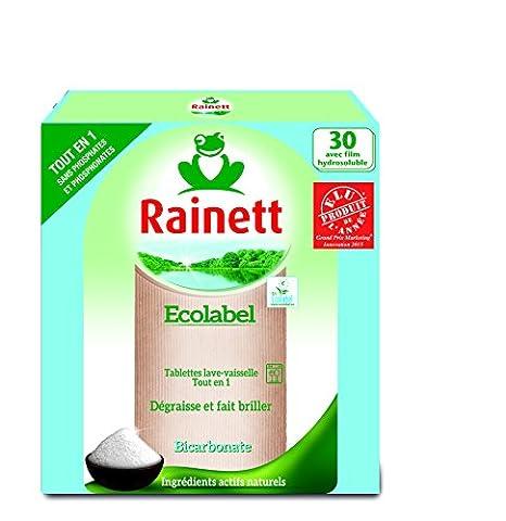 Rainett Tablettes Lave Vaisselle Tout en 1 Ecologique 30 Tablettes