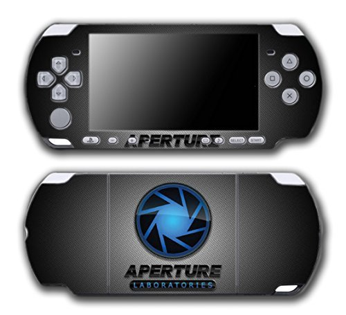 Portal 1 2 Gun Chell Gladdos Wheatley Aperture Laboratories Video Game Vinyl Decal Skin Sticker Cover for Sony PSP Playstation Portable Slim 3000 Series System by Vinyl Skin Designs