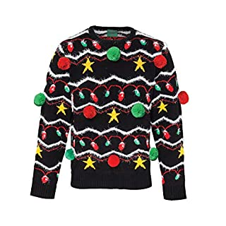 Christmas Shop Decoration 3D adults Christmas jumper - Black / Assorted