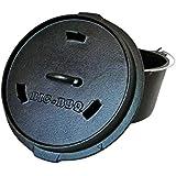 Big-BBQ Premium DO 9 Dutch Oven | Horno holandés de hierro fundido | pretratadas y curadas 12