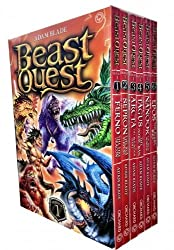Beast Quest Box Set Pack: Series 1-6 books, (Arcta the Mountain Giant, Epos the Flame Bird, Ferno the Fire Dragon, Nanook the Snow Monster, Sepron Serpent, Tagus the Horse-Man)