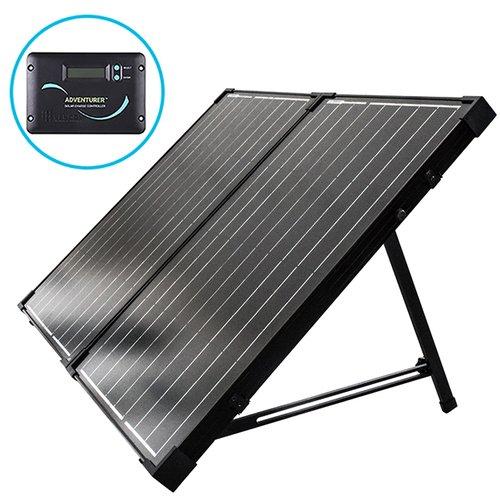 Renogy 100W 12V 2 x 50W Solarpanel Faltbarer Tragbarer Solarkoffer mit 30A integrierter LCD-Ladereglern für Wohnmobil Camper Boot