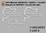 Ecoshirt 2V-6VS8-B1WX - Adesivi per Renault Sport Nürburgring F25 Aufkleber Decals Adesivi Rallye, Colore: Bianco