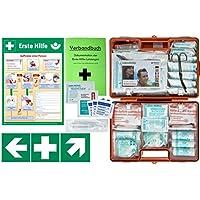 Erste-Hilfe-Koffer M6 PLUS DIN/EN 13169 -Komplettpaket- für Betriebe ab 50 Mitarbeiter inkl. 3 FOLIENAUFKLEBER... preisvergleich bei billige-tabletten.eu