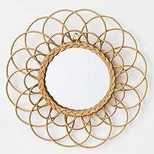 Miroir rotin for Casa miroir rond
