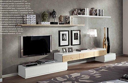 Easyfurn Cadre Porte TV TV en Bois Massif Design Moderne