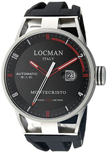 Locman Italy Men's 051100BKFRD0GOK Montecristo Classic Automatic Analog Display Automatic Self Wind Black Watch