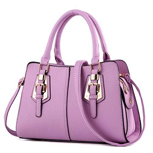 WU ZHI Dame Handbag Schulter Messenger Bag Mittelalter Mutter Tasche Big Bag Handtasche Purple