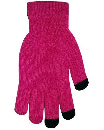 BOSS Tech Produkte Knit Touchscreen Handschuhe mit leitfähigen Fingerspitzen hot pink -