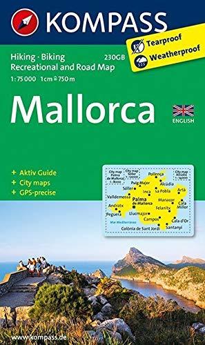traßen- und Freizeitkarte mit Aktiv Guide und Radrouten. GPS-genau. 1:75000. Englische Ausgabe: Wandelkaart 1:75 000 (KOMPASS-Wanderkarten) ()