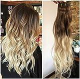 Best Extensions de cheveux humains - 40,6cm Tête complète Clip dans 100% Extensions de Review