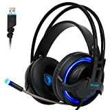 Sades R2 Cuffie Gaming Headset Digital 7.1 canali audio Surround...