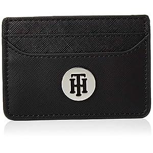Tommy Hilfiger Damen Honey Cc Holder Kreditkartenhülle, Schwarz (Black), 7x10x0.5cm