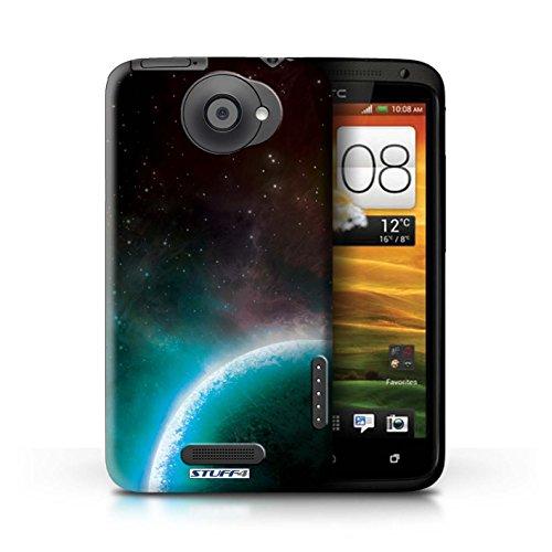 Kobalt® Imprimé Etui / Coque pour HTC One X / Éclipse Pourpre conception / Série Cosmos Planète Bleue
