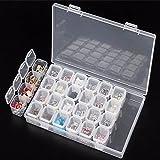 Gemini_mall® 24Fächer, verstellbar, mit Diamant-Stickerei, Diamant, für Bastelarbeiten farblos