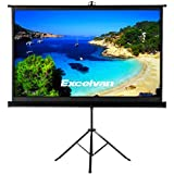 "Excelvan Portable 100"" Diagonal HD 16:9 Pull Up Projector Screen With Foldable Stand Tripod For Home Theater Cinema Wedding Party Office Presentation"