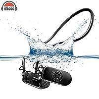 OKCSC Bone Conduction Waterproof MP3 Player IPX8 Waterproof MP3 Player 8GB Bone Conduction Protect Eardrum Headphone for Running Swimming Surfing/ Snorkeling