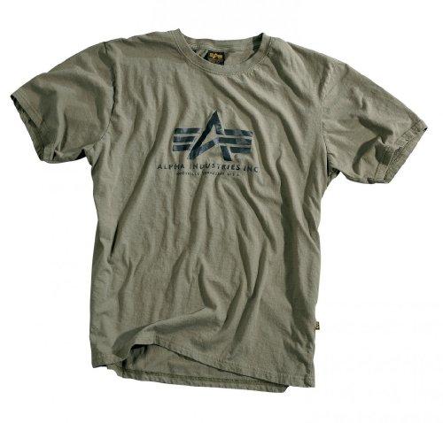 Alpha Industries Herren Oberteile/T-Shirt Basic Olive XXXXL