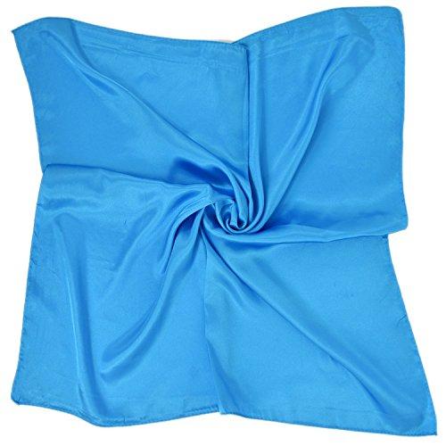 PB-SOAR PB-SOAR Einfarbiger Schal Bandana Halstuch Kopftuch Nickituch, 13 Farben auswählbar (Blau)