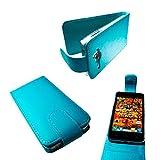 caseroxx Hülle / Tasche Flip Cover Alcatel One Touch Star 6010D, Schutzhülle Alcatel One Touch Star 6010D (Handytasche klappbar in blau)