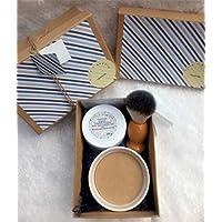 Sandalwood Shaving Gift Box. 100g goats milk sandalwood essential oil shaving soap 100% natual and moisturising. 100g COSMOS certified organic sandalwood moisturiser.