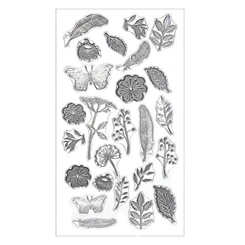 ESAILQ Silikon-Schmetterlings-Blumen-Präge-Folder-Schablone DIY Karte Scrapbooking Dekor (M: 20,5 * 11CM)